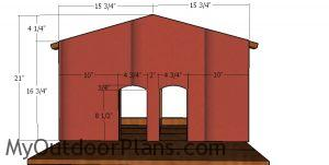 Front wall siding - cat house