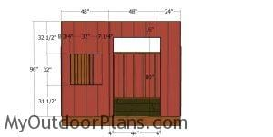 Front wall siding sheets - 10x10 saltbox shed
