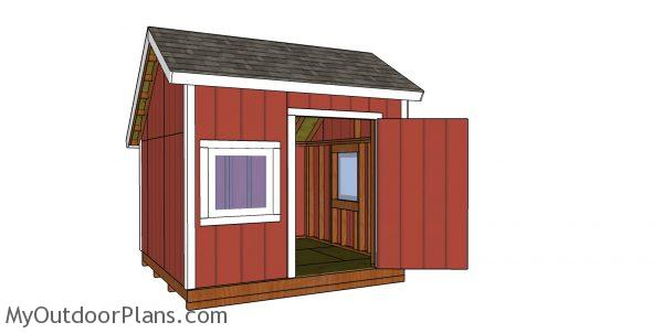 How to build a 10x10 saltbox shed