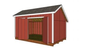 10×16 Saltbox Shed Roof Plans