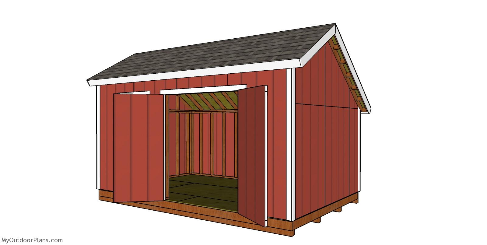 10x16 Saltbox Shed Roof Plans