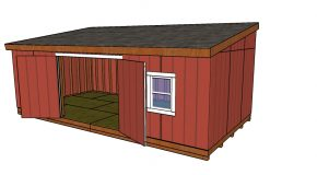 12×24 Lean to Shed Plans