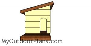 Insulated cat house plans - front view