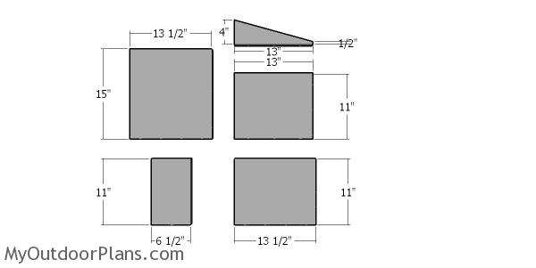 Insulation sheets for the walls