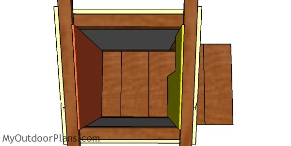 Interior wall panels for cat house