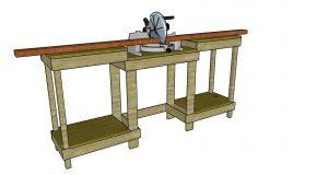 Simple Miter Saw Station – Free DIY Plans