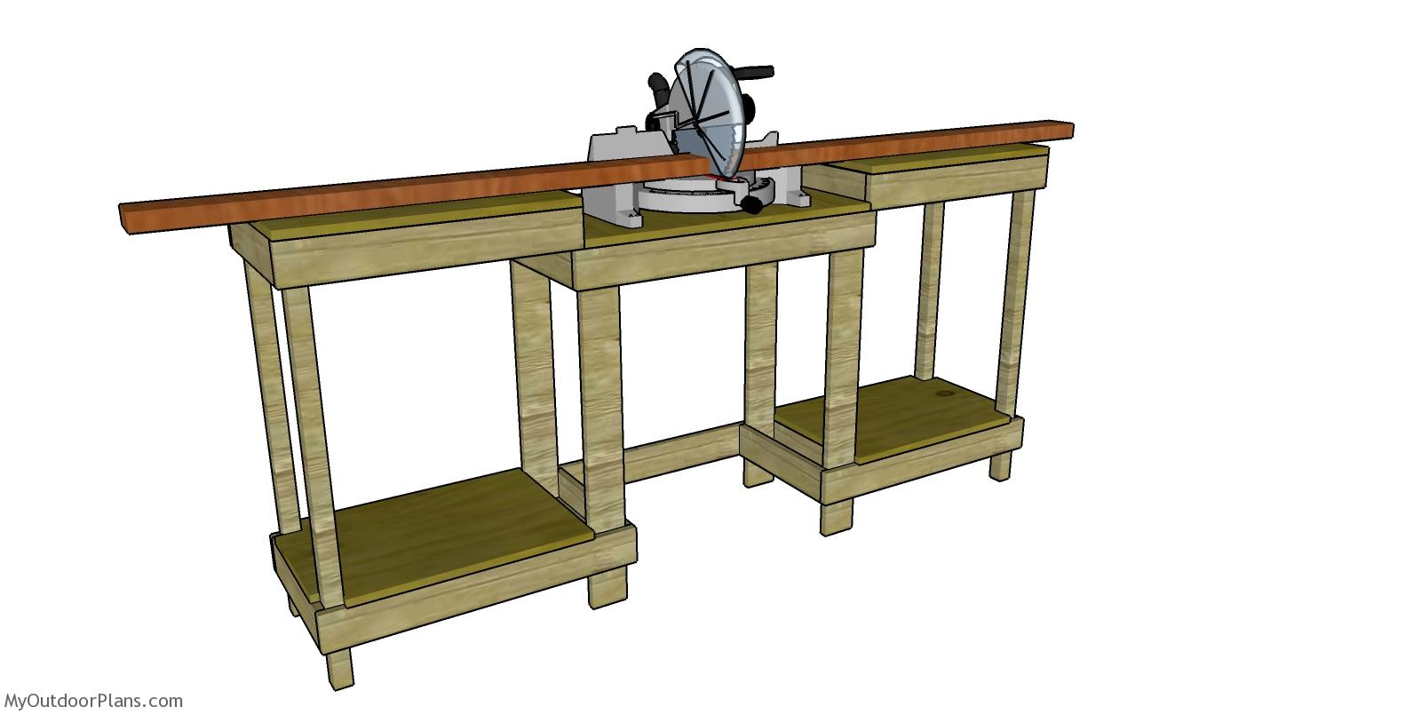 Simple Miter Saw Station - Free DIY Plans