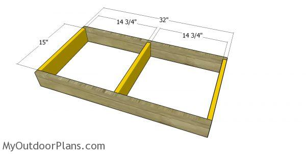 Miter saw station frame