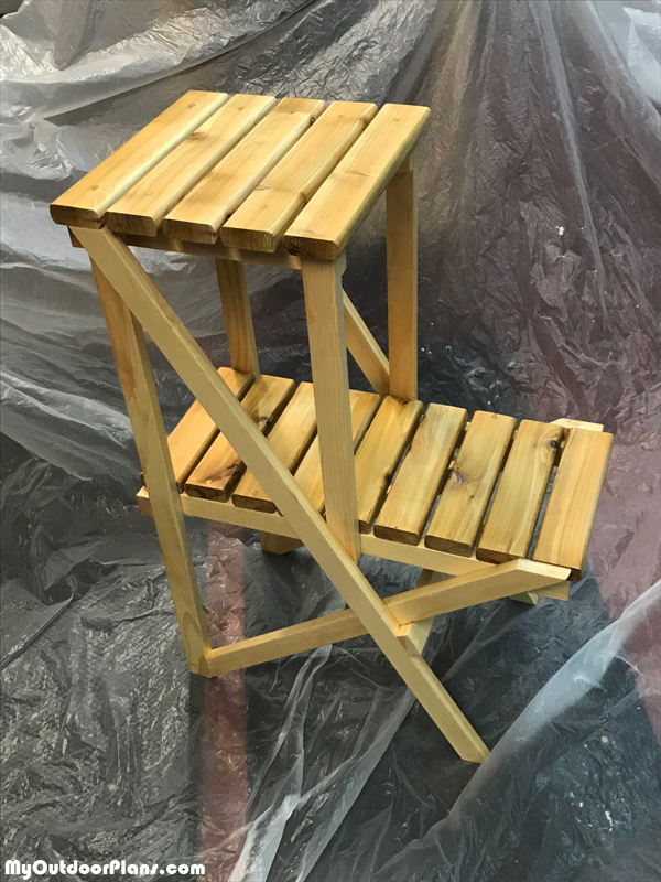 DIY 2 Tier Plant Stand