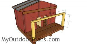 Porch supports - cat house