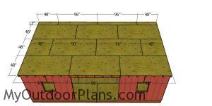Roof sheets - 12x24 shed