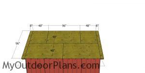 Roof sheets for shed 2