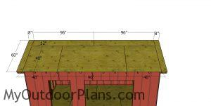 Roof sheets for shed