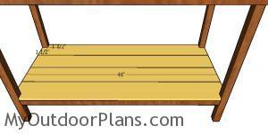 Shelf slats - 5 ft workbench
