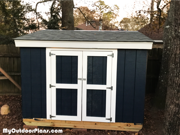 DIY 4x8 Short Garden Shed