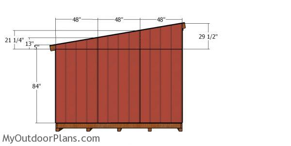Side panels - 12x24 lean to shed