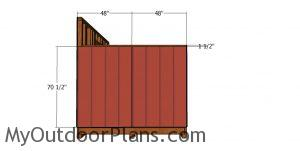 Side panels - 8x12 shed