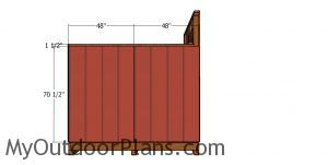Side panels - 8x8 saltbox shed