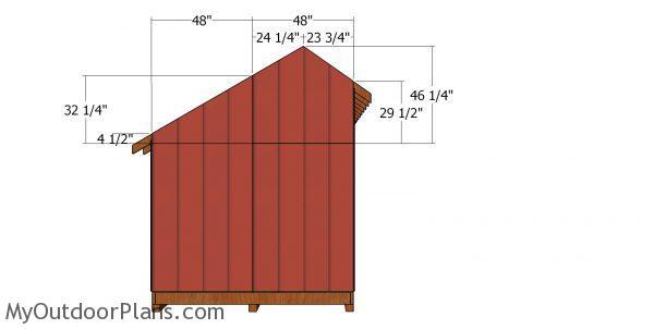 Side top siding panels