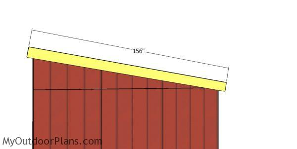 Side trims - 12x24 shed