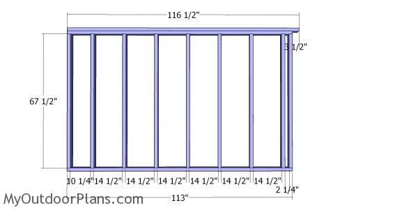 Side wall frames - 10x16 saltbox shed