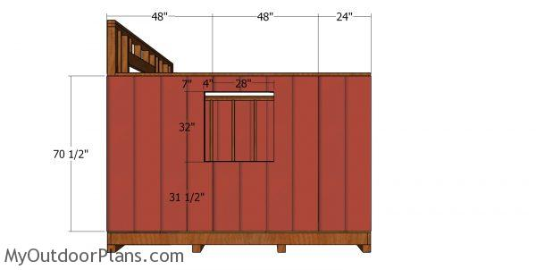 Side wall siding sheets - 10x10 saltbox shed