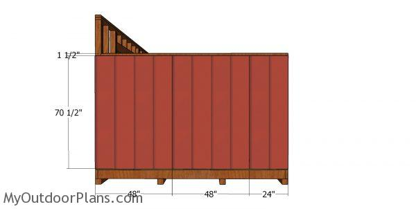 Side wall siding sheets - saltbox shed