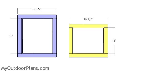 Side walls for cat house