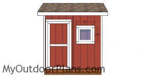 Window trims - 8x8 saltbox shed