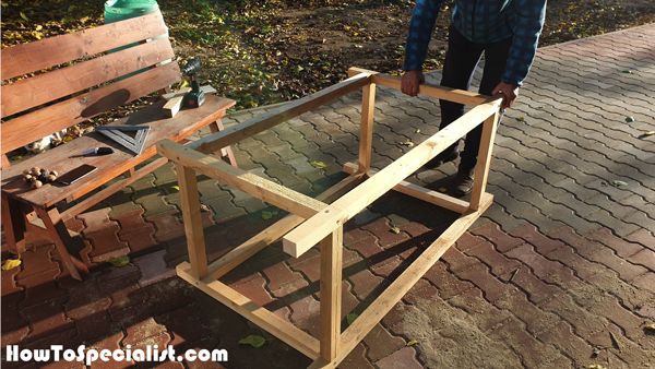 Workbench-frame-assembly