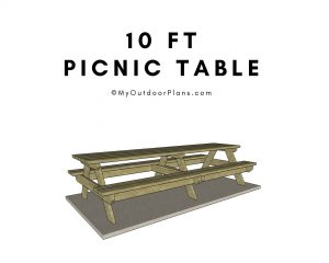 10 ft picnic table