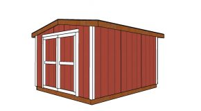 8×10 6 ft High Short Shed – Free DIY Plans