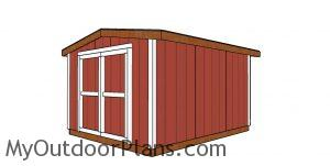 10x12 Shed 8 ft high - Free DIY Plans