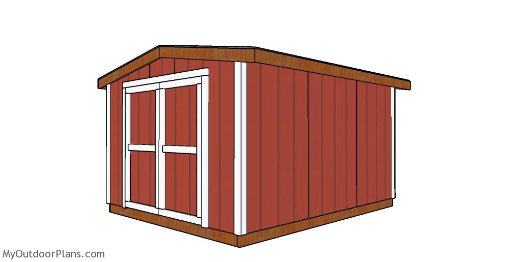 8x10 6 ft High Short Shed - Free DIY Plans