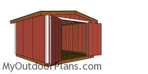 10x12 Shed 8 ft high - Plans