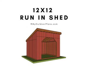 12x12 Run in shed plans