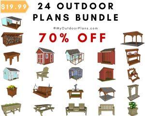 24 outdoor plans bundle