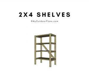 2x4 shelving plans