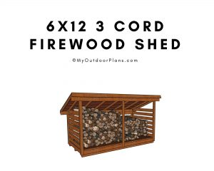 3 cord firewood shed