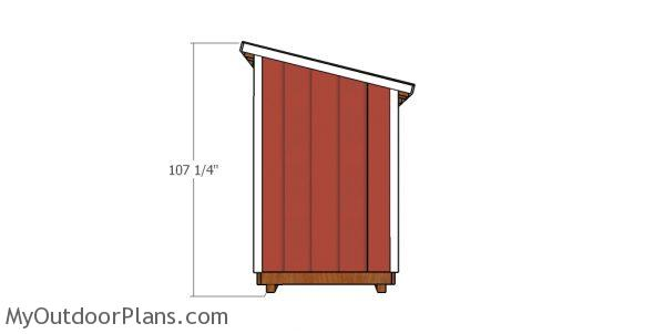 5x6 lean to shed Plans - Height