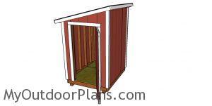 5x6 lean to shed Plans - open door