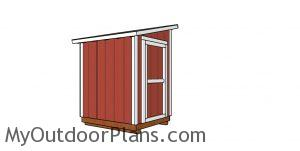 5x6 lean to shed - free diy plans