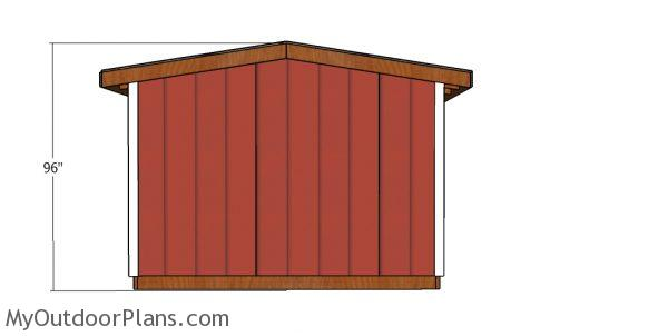 8 ft high Shed - Back view