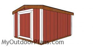 8x10 6 ft tall shed plans