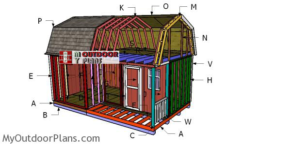 Building-a-12x20-barn-shed-with-porch