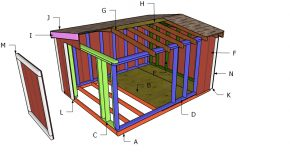 8×10 Gable Roof for a Short Shed Plans