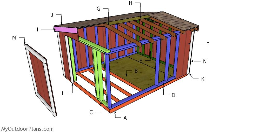 8x10 Gable Roof for a Short Shed Plans