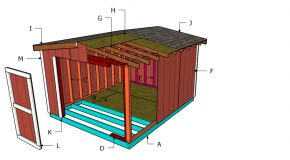 10×12 8 ft Short Shed Roof Plans