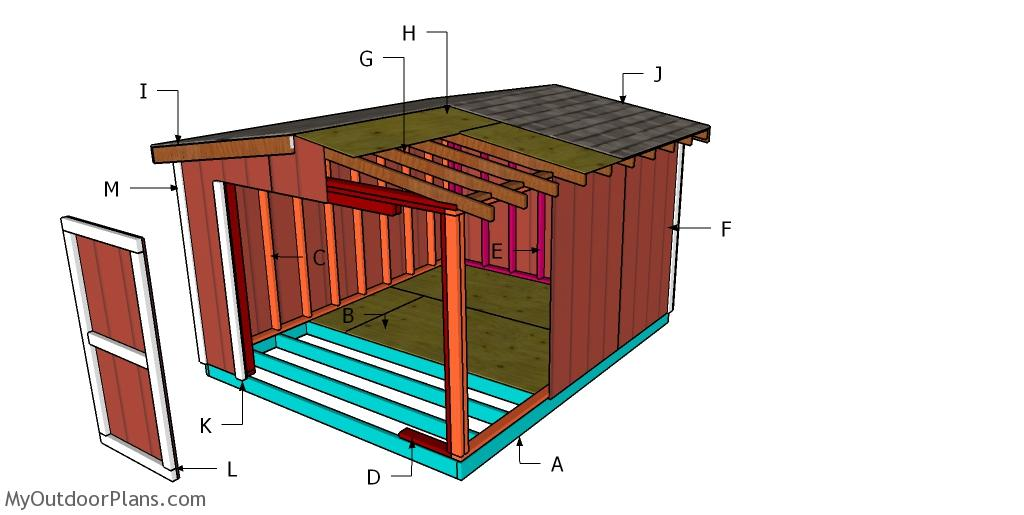 10x12 8 ft Short Shed Roof Plans