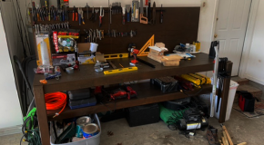 DIY Garage Bench with Back